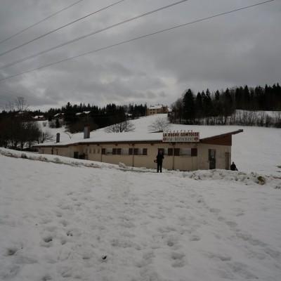 1-Winterwanderung durch die Französische Jura auf Schneeschuhen