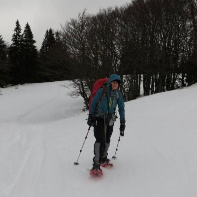 2-Winterwanderung durch die Französische Jura auf Schneeschuhen (1)
