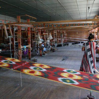Seidenfabrik in Markhilan / Fergana