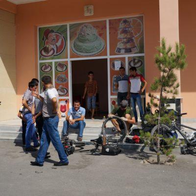 Kaputter Reifen in Usbekistan